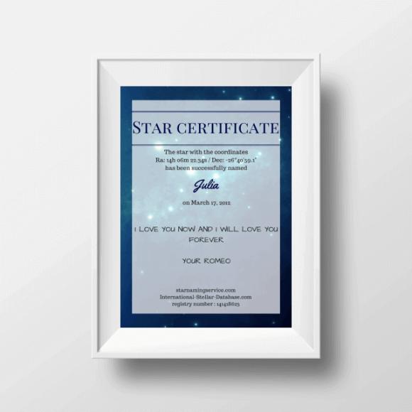 Star Certificate Australia