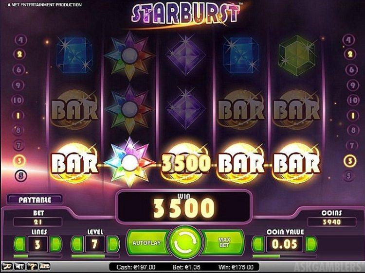 starburst игровой автомат как выиграть