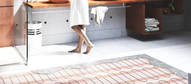 Электрический теплый пол: теплый пол в ванной комнате