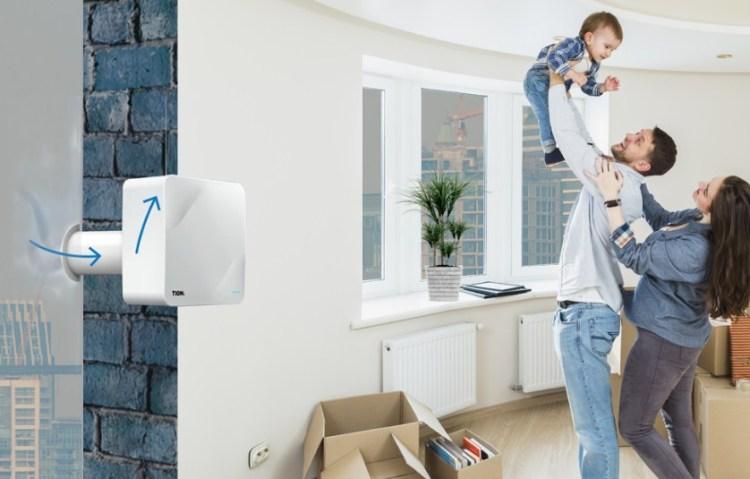 БРИЗЕР TION - это компактная приточная вентиляция для дома,