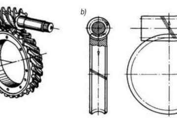 Червячная передача с цилиндрическим червяком