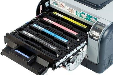 заправка картриджей принтеров. Фото