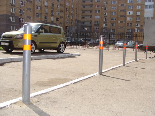 Что представляют собой столбики для парковки?