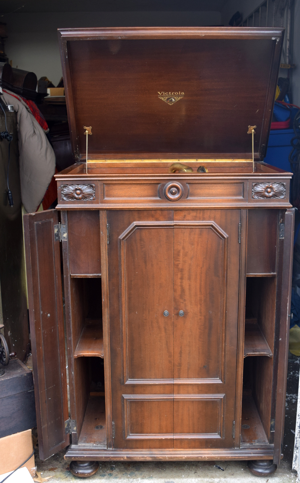 Orthophonic Credenza With Brass Reproducer For Sale