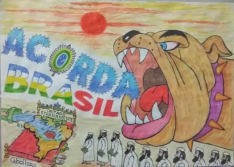 charge: acorda brasil, de Cebollero