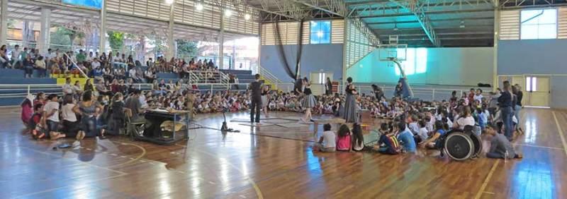 Apresentação reuniu um grande público em Cravinhos