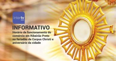 Comércio terá horário especial de funcionamento durante os feriados de Corpus Christi e aniversário de Ribeirão Preto
