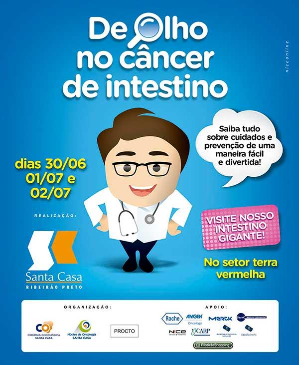Exposição no RibeirãoShopping traz intestino gigante para alertar sobre câncer