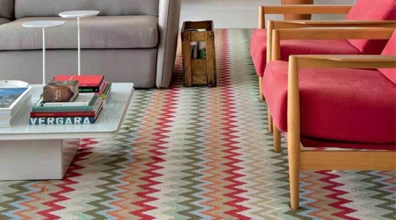 Decoração:tapete com estampa geométrica