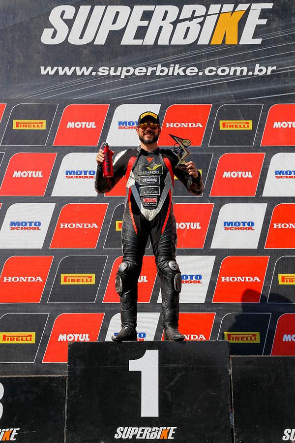 Guto conquistou o pódio na etapa de Londrina