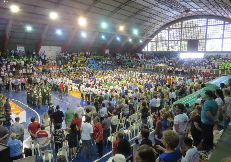 Cerimônia de abertura dos Jogos Regionais dos Idosos de 2017