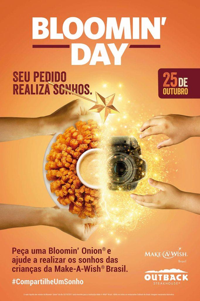 Outback realiza sonhos em parceria com a Make-A-Wish® Brasil