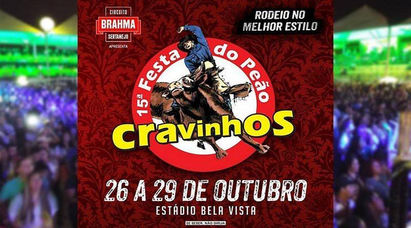Festa do Peão Boiadeiro de Cravinhos será de 26 a 29 de Outubro