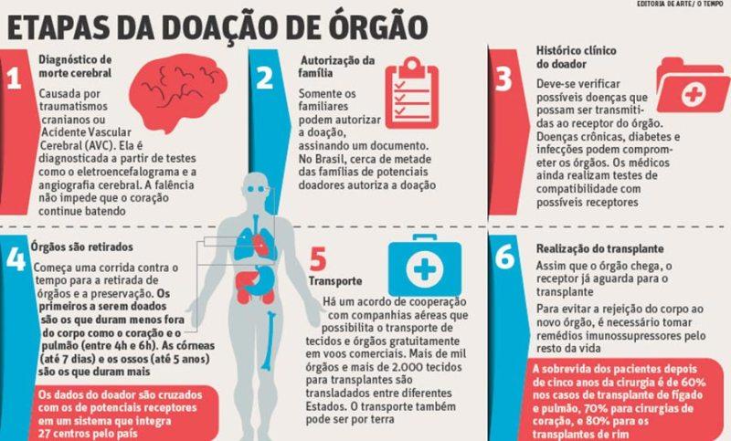 Conheça as etapas da doação de órgão