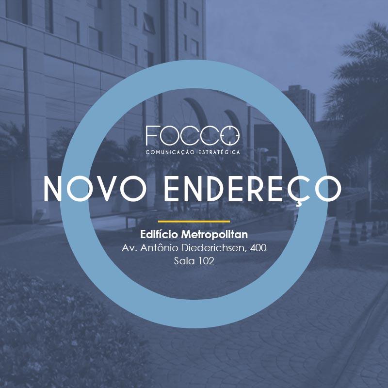 A Focco Comunicação está de casa nova