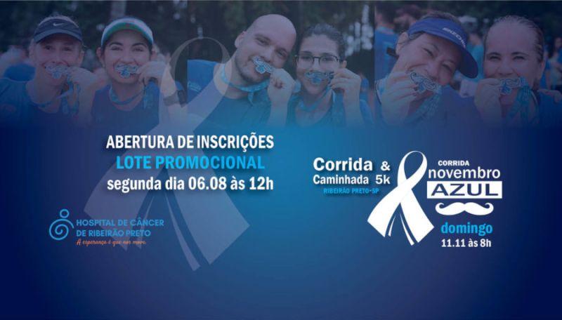 Inscrições abertas para 3ª edição da Corrida e Caminhada Novembro Azul