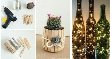 Dicas de DIY para vidros e latas de conserva