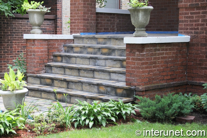 View Brick Front Steps Design Ideas PNG