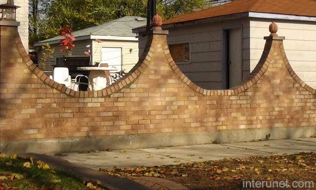 House Brick Fence Design : Brightchat.Co