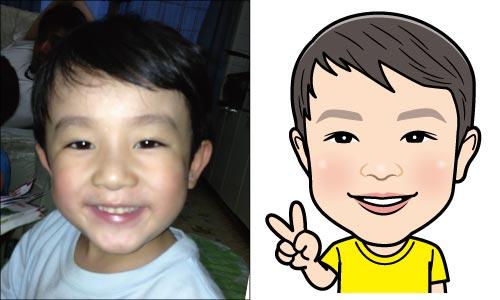 甥っ子の似顔絵1