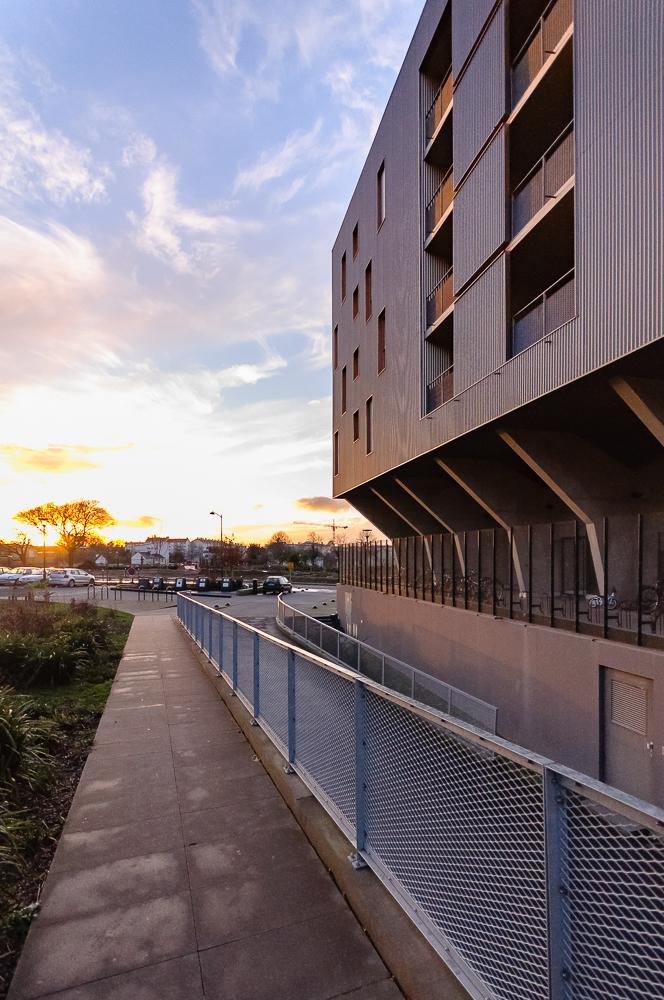 photographe d'architecture ©INTERVALphoto : CRAS D. et PICH-AGUILERA architectes, logements collectifs, BH1, ZAC La Courrouze, Rennes.