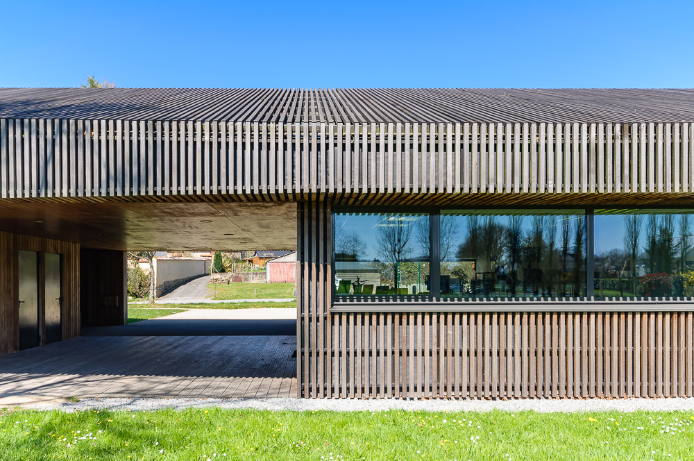 photographe d'architecture ©INTERVALphoto :David Cras architecte, médiathèque, Saint Aubin du Pavail