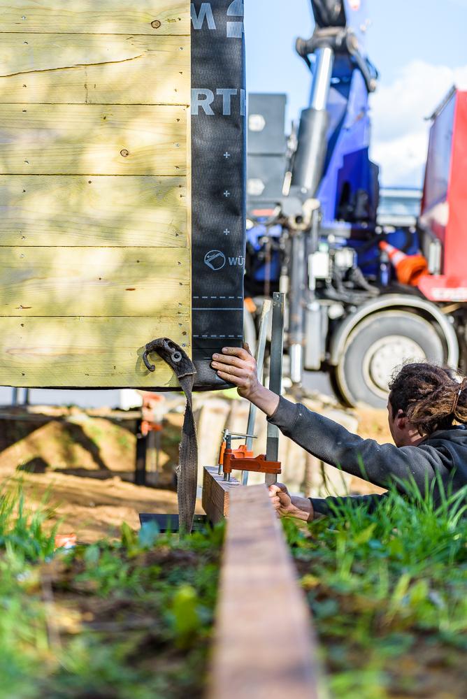 BLOCKWOOD, chantier,  maison individuelle, Retiers (35)
