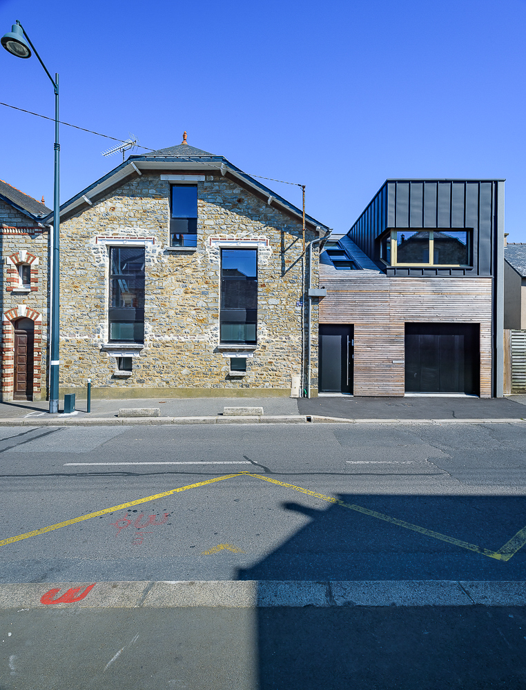 photographe d'architecture ©INTERVALphoto : Mickaël TANGUY architecte, maison Toboggan, à vivre, Rennes(35)
