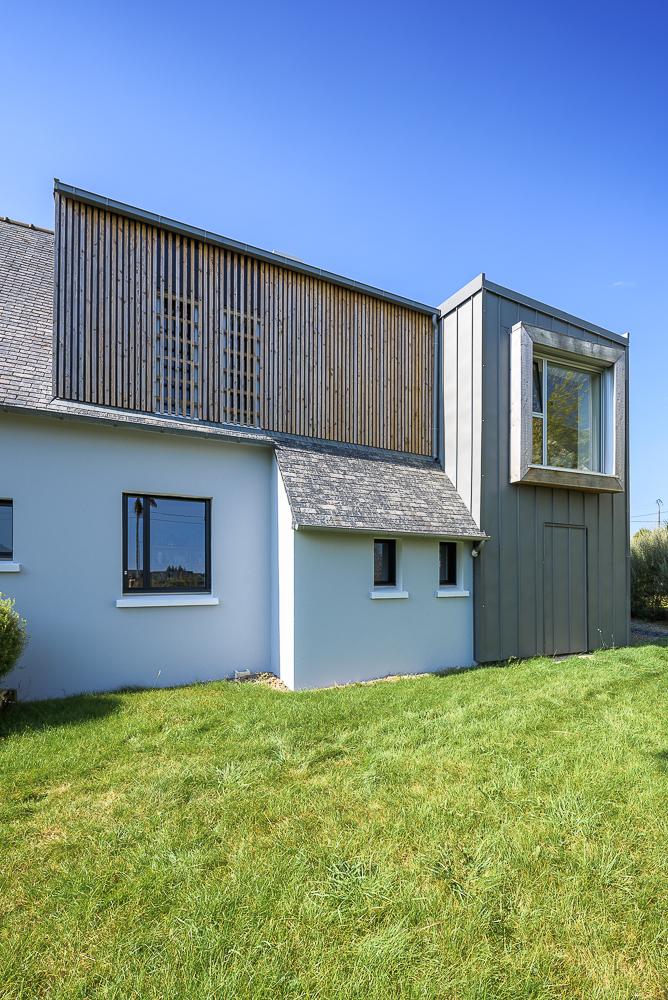 photographe d'architecture ©INTERVALphoto : LAB architectes, maison individuelle, extension, Lopheret (29)