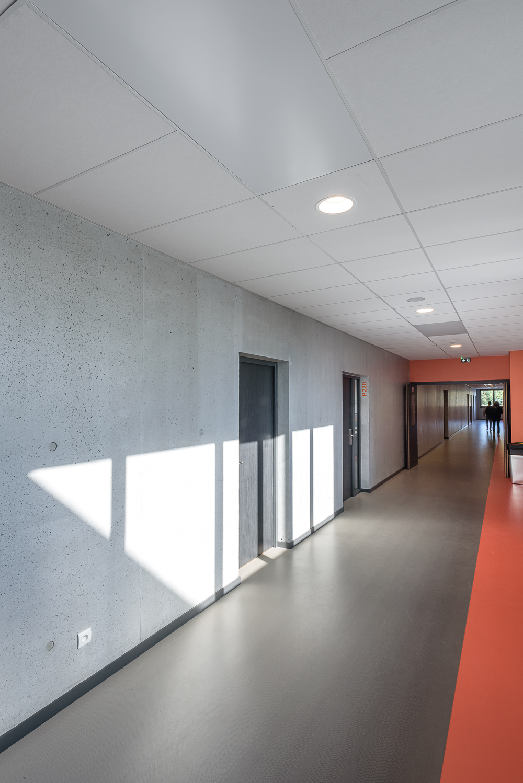 photographe d'architecture ©INTERVALphoto : Couasnon Et Launay architectes, Lycée Ozanam, Cesson-Sévigné(35)