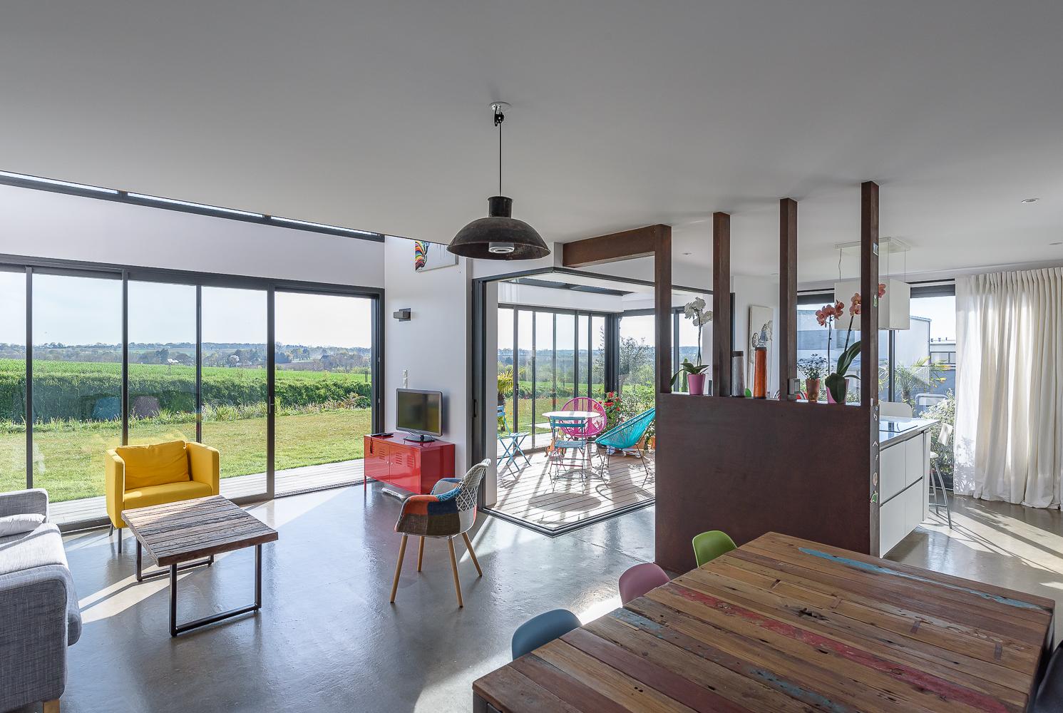 photographe d'architecture ©INTERVALphoto : Mickaël TANGUY architecte, maison Melesse (35)