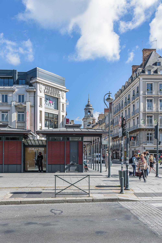 photographe d'architecture ©INTERVALphoto : Couasnon-Launay Architectes, Galeries Lafayette, Rennes (35)