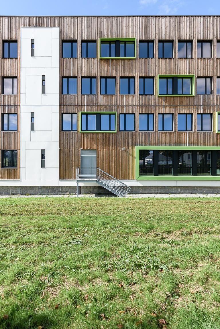 photographe d'architecture ©INTERVALphoto : Pellerin A. architecte, SOPREMA étanchéité, Lycée Fulgence Bienvenüe, Loudéac (22)