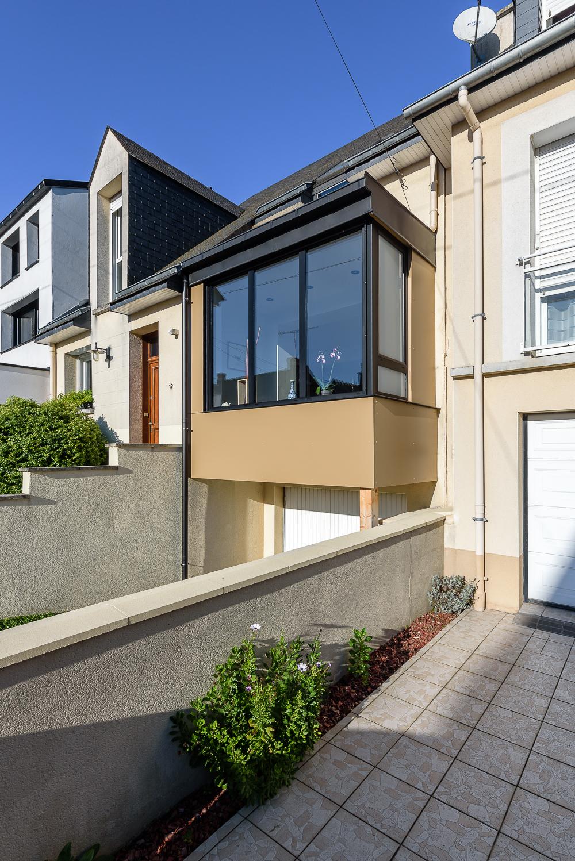 photographe d'architecture ©INTERVALphoto : Rocher Typhaine architecte maison individuelle, bow-window, Rennes(35)