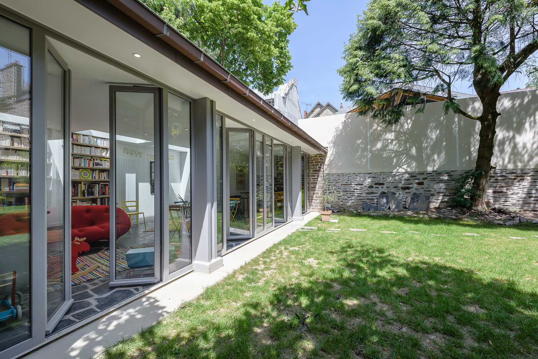 photographe d'architecture ©INTERVALphoto : Briand & Renault Architectes, réhabilitation d'une Dépendance, maison individuelle, Rennes (35)