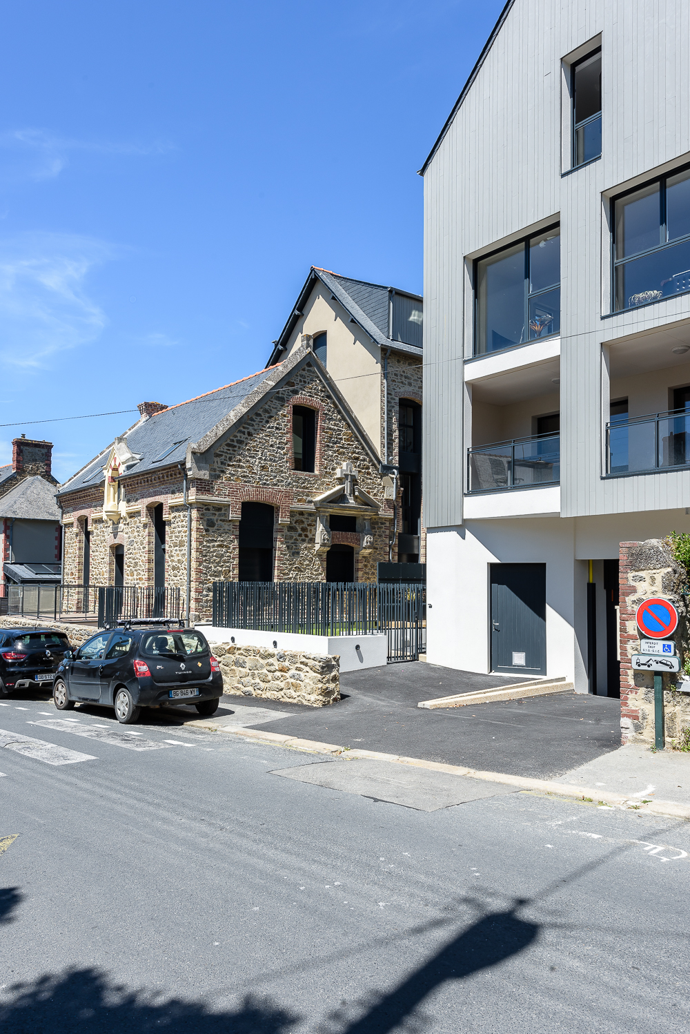 photographe d'architecture ©INTERVALphoto : Bachmann associés architectes, groupe Authenticity, logements collectifs, St Malo (35)