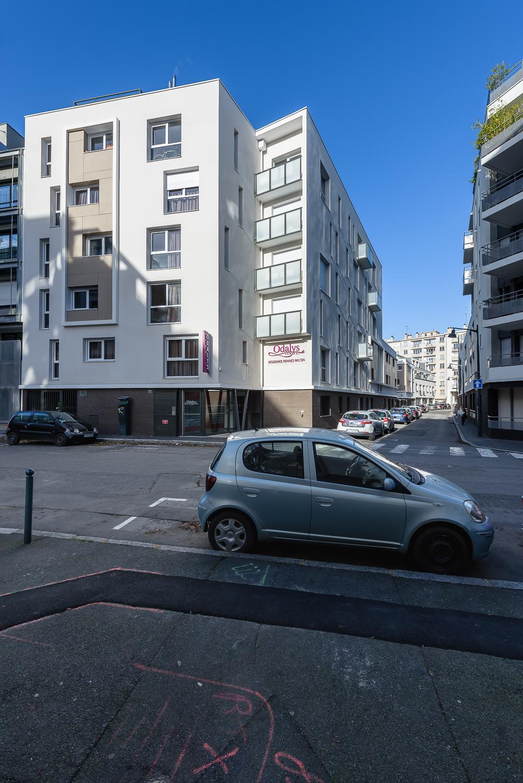 photographe d'architecture ©INTERVALphoto : BNR architecture, Peroba, résidence étudiante, le Mil'on, Rennes, 35