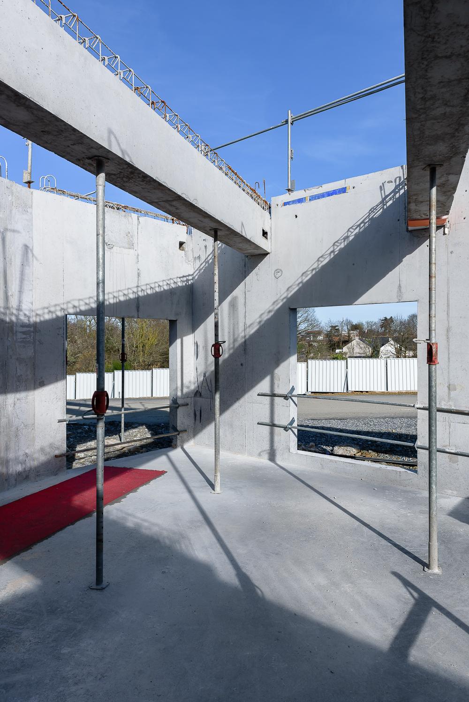 photographe d'architecture ©INTERVALphoto : Lycée Polyvalent, Région Pays de Loire, AIA architecte, Chantier, Nort sur Erdre (44) 4/22