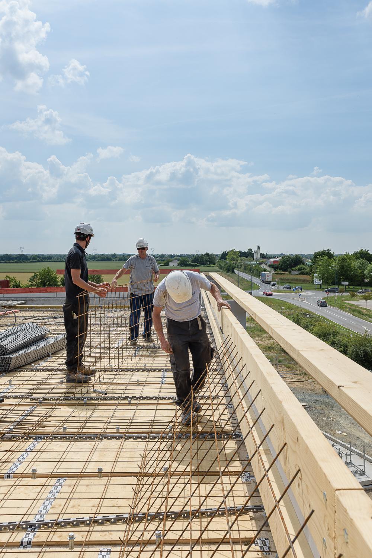 photographe d'architecture ©INTERVALphoto : Lycée Polyvalent, Région Pays de Loire, AIA architecte, Chantier, Nort sur Erdre (44) 7/22 ©INTERVAL photo