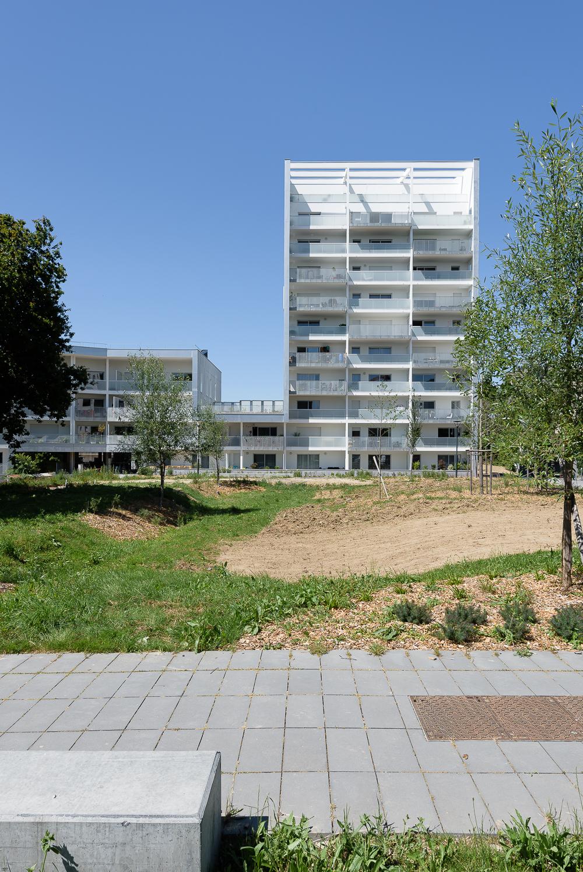 photographe d'architecture ©INTERVALphoto : Paumier Architectes Associés, logements collectifs, Hélios Park, la Courrouze, Rennes (35)