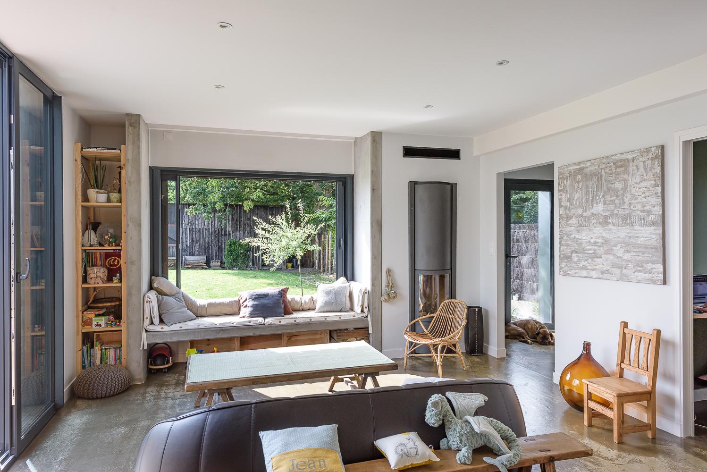 photographe d'architecture ©INTERVALphoto : Briand & Renault Architectes, extension, rénovation maison individuelle, Pacé (35)