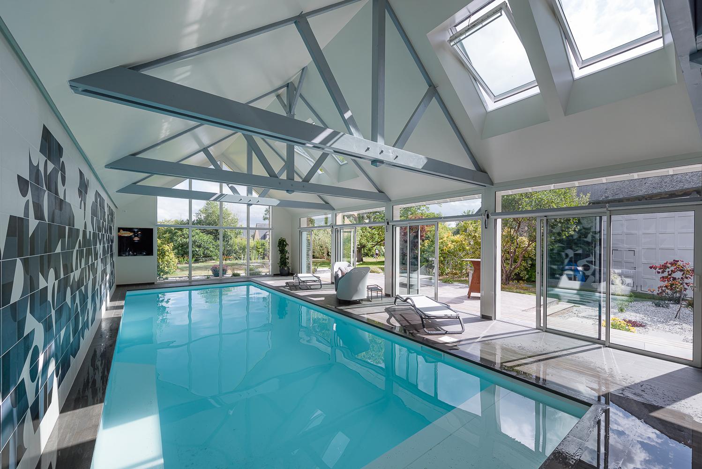 photographe d'architecture ©INTERVALphoto : Couasnon Launay architectes, maison individuelle, extension, piscine, Dol de Bretagne (35)
