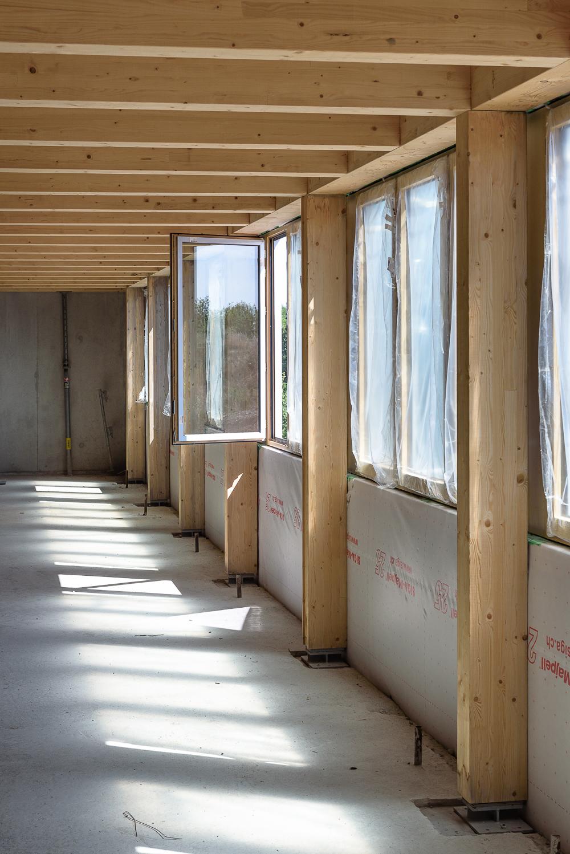 photographe d'architecture ©INTERVALphoto : Lycée Polyvalent, Région Pays de Loire, AIA architecte, Chantier, Nort sur Erdre (44) 9/22