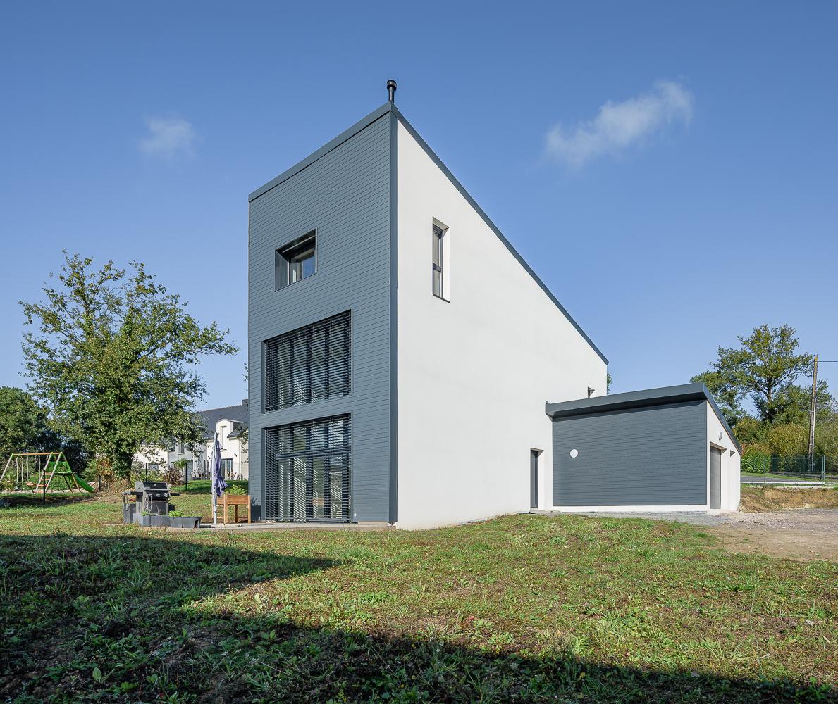 photographe d'architecture ©INTERVALphoto : O2 concept Architecture, maison PASSIVE, Lassy (35)