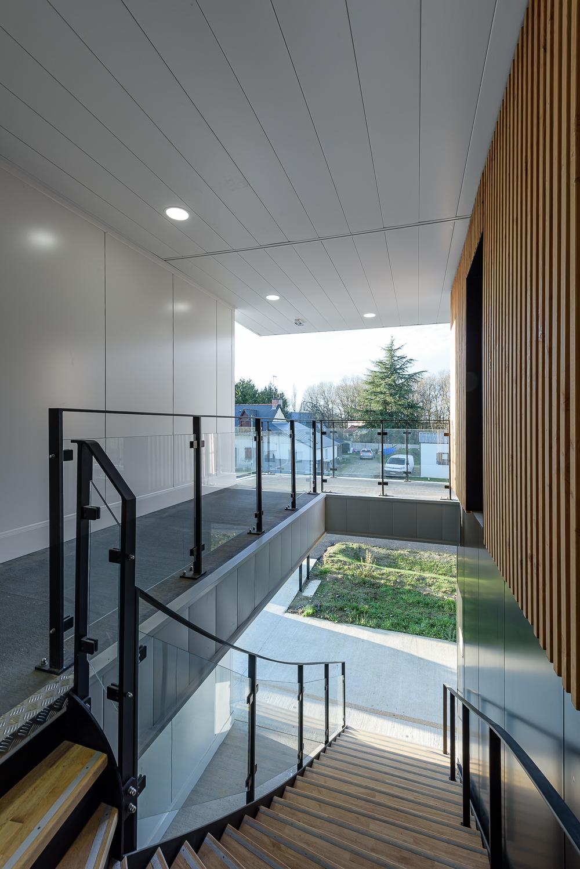 photographe d'architecture ©INTERVALphoto : LEFORT, Claire, Architecte, bâtiment tertiaire (phase 1), Campus de Ker Lann, Bruz (35)