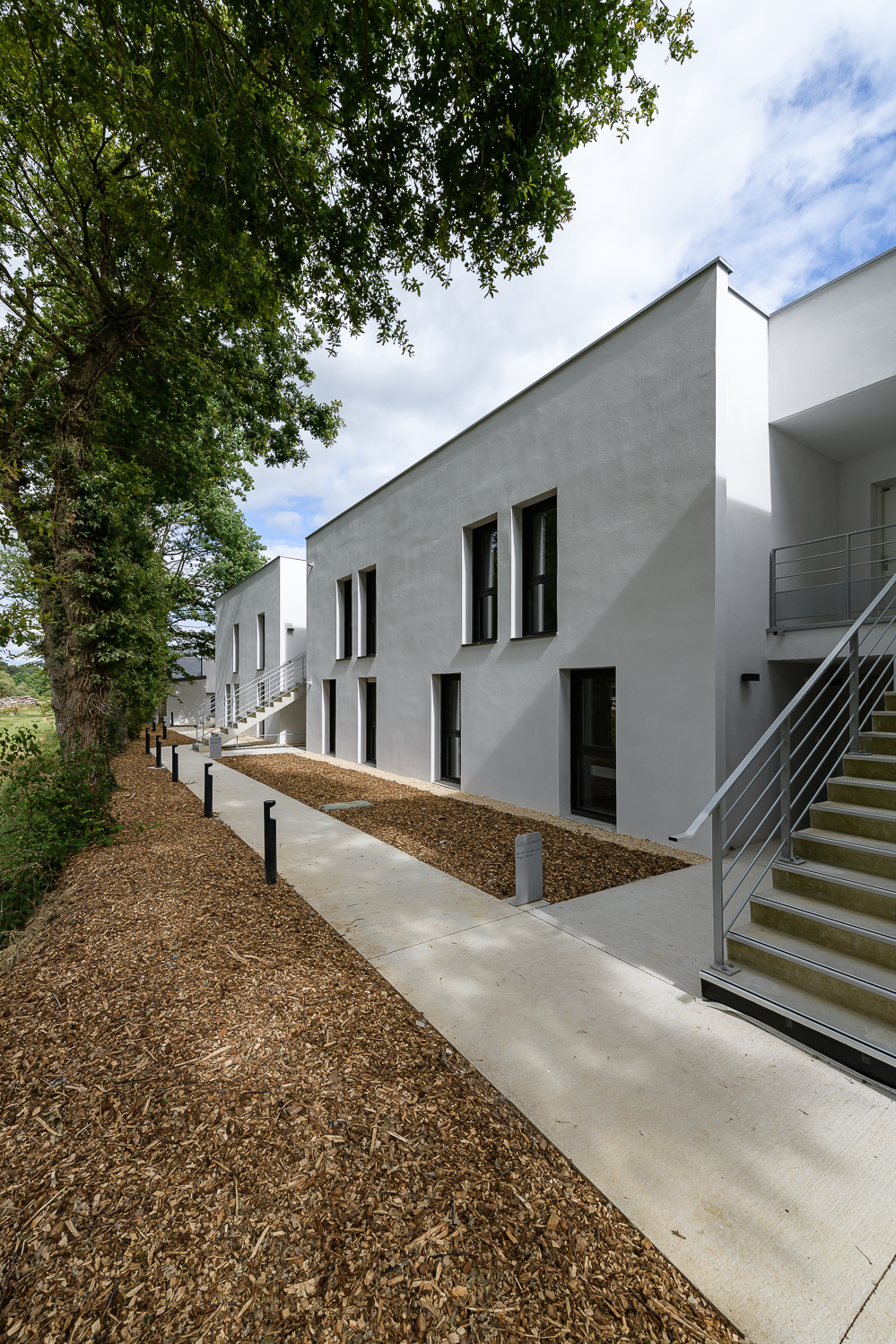 photographe d'architecture ©INTERVALphoto : O+P architectes, logements, Cintré (35)