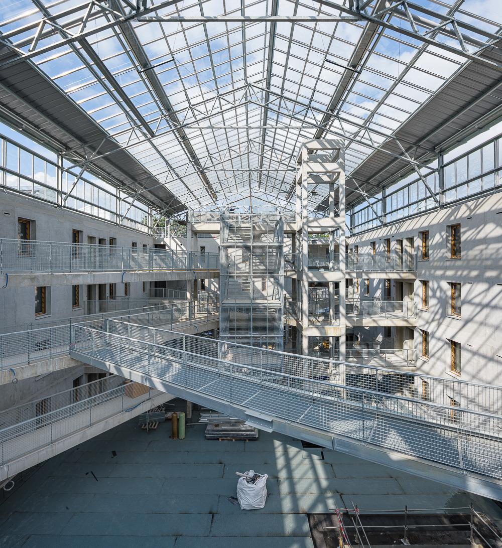 photographe d'architecture ©INTERVALphoto : Ent. Pavoine, Gros Oeuvre, logements Utopia, Bruz (35)