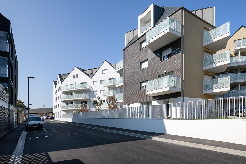 photographe d'architecture ©INTERVALphoto : Paumier Architectes Associés, logements collectifs, CartWay, St Malo (35)