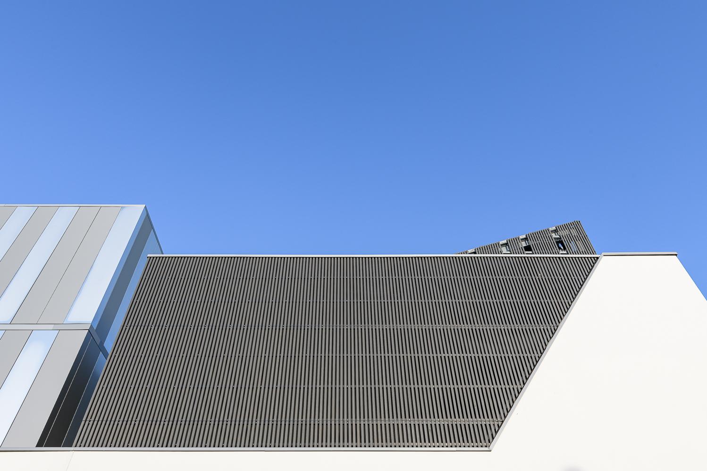 photographe d'architecture ©INTERVALphoto : O+P Architectes, Extérieurs, CAF Inhni, Ker Lann, Bruz (35)