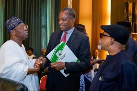 Geoffrey Onyeama and Lai Mohammed, Nigeria 's ministers of Foreign Affairs and that of information